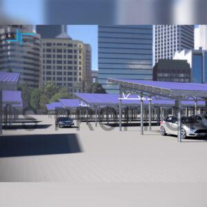 Система крепления из ЛСТК профиля для паркинга